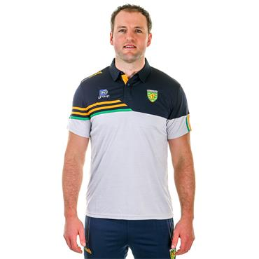 O'Neills Adults Donegal GAA Nevis 05 Polo Shirt - Grey