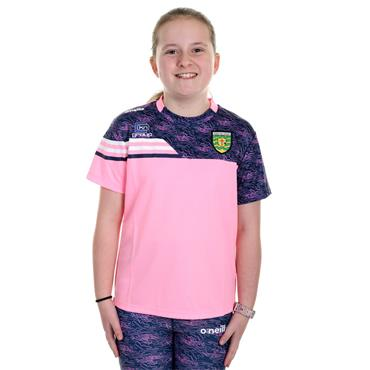 O'Neills Girls Donegal GAA Nevis 01 T-Shirt - Pink