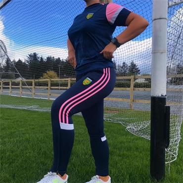 O'Neills Womens Donegal GAA Portland 153 Skinny Pants - NAVY/PINK
