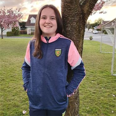 O'Neills Girls Donegal GAA Portland 21 Full Zip Hoodie - Navy