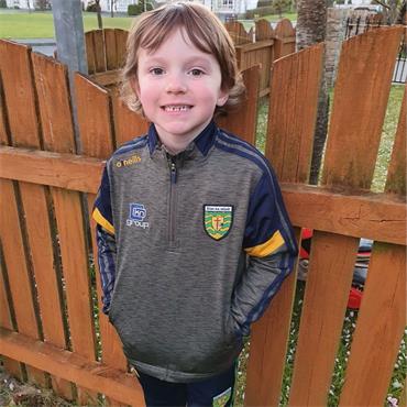 O'Neills Kids Donegal GAA Portland 184 Brushed Half Zip - Green