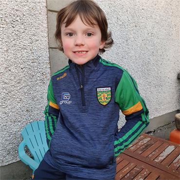 O'Neills Kids Donegal GAA Portland 184 Brushed Half Zip - Navy