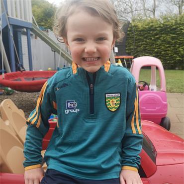 O'Neills Kids Donegal GAA Raven 033 Mid Layer Top - Green