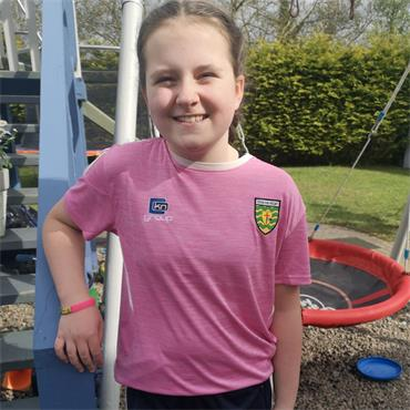 O'Neills Girls Donegal GAA Raven 060 T-Shirt - Pink