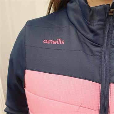 O'Neills Grils Donegal GAA Raven 071 Lightweight Padded Jacket - Pink
