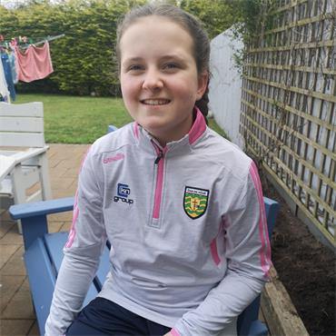 O'Neills Girls Donegal GAA Raven 122 Half ZIp - Grey