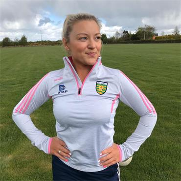 O'Neills Womens Donegal GAA Raven 122 Half Zip - Grey