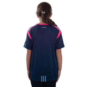 GIRLS DONEGAL SOLAR 01 TSHIRT - MARINE/PINK/BLUE