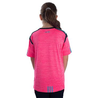 GIRLS DONEGAL SOLAR 01 TSHIRT - PINK/MARINE/BLUE