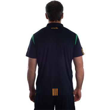 ADULTS DONEGAL SOLAR 05 POLO SHIRT - MARINE/EMERALD/AMBER
