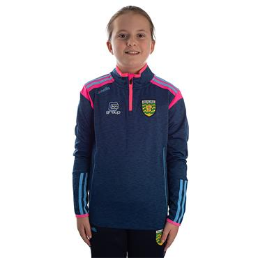 O'Neills Girls Donegal GAA Solar 122 Brushed Half Zip Top - Marine