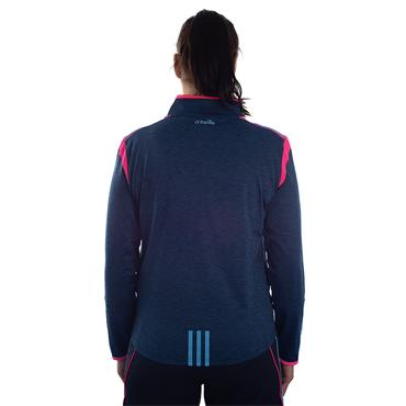 WOMENS DONEGAL SOLAR 122 BRUSHED HZ TOP - MARINE/PINK/BLUE
