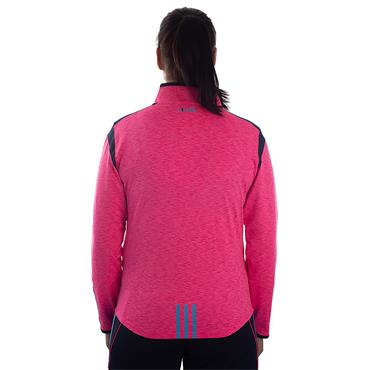 WOMENS DONEGAL SOLAR 122 BRUSHED HZ TOP - PINK/MARINE/BLUE