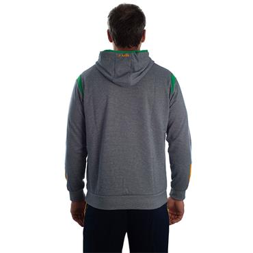 ADULTS DONEGAL SOLAR 14 HOODIE - GREY/EMERALD/AMBER