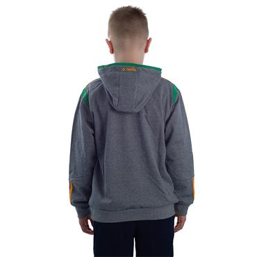 KIDS DONEGAL SOLAR 14 HOODIE - GREY/EMERALD/AMBER