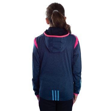GIRLS DONEGAL SOLAR 21 BRUSHED FZ HOODY - MARINE/PINK/BLUE