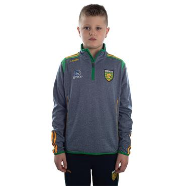 KIDS DONEGAL SOLAR 30 HALF ZIP TOP - GREY/EMERALD/AMBER