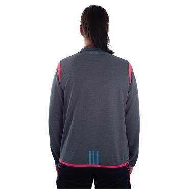 WOMENS DONEGAL SOLAR 30 HALF ZIP TOP - GREY/PINK/BLUE
