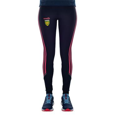 WOMENS DONEGAL SOLAR 40 LEGGINGS - MARINE/PINK