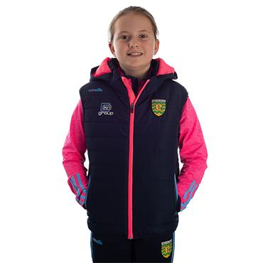 GIRLS DONEGAL SOLAR 70 GILET - MARINE/PINK/BLUE