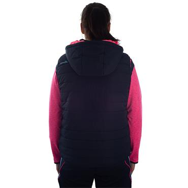 WOMENS DONEGAL SOLAR 70 GILET - MARINE/PINK/BLUE