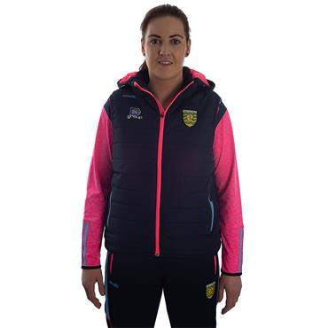 WOMENS DONEGAL SOALR 70 GILET - MARINE/PINK/BLUE