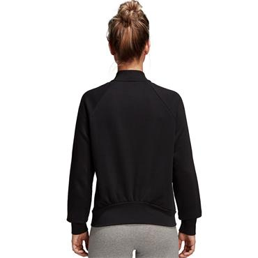 ADIDAS WOMENS FULL ZIP BOMBER JACKET - BLACK
