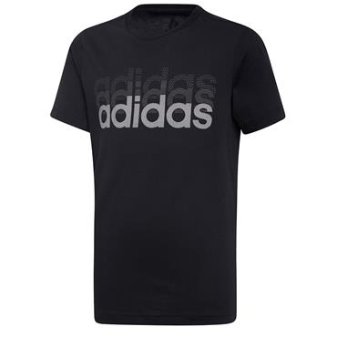 ADIDAS KIDS LINEAR TSHIRT - BLACK