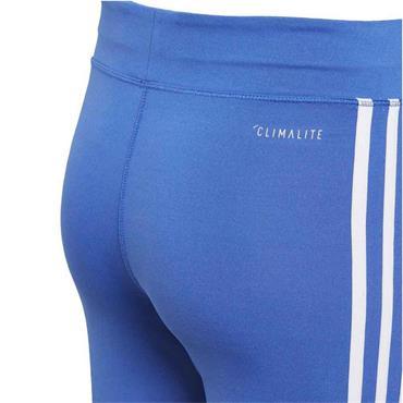 Adidas Girls Gear up 3 Stripe Leggings - Blue