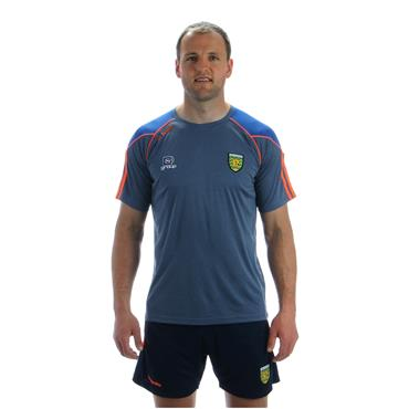 ADULTS DONEGAL DILLON 01 TSHIRT - GREY/BLUE