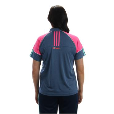 WOMENS DONEGAL DILLON 05 POLO SHIRT - NAVY/PINK