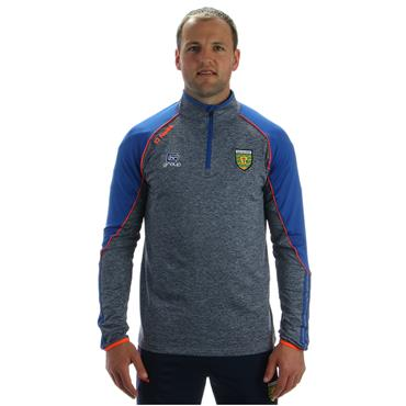 ADULTS DONEGAL DILLON 122 HALF ZIP TOP - GREY/BLUE