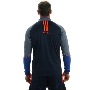 ADULTS DONEGAL DILLON 33 HALF ZIP TOP - NAVY/GREY