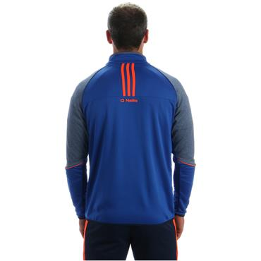 ADULTS DONEGAL DILLON 86 SIDE ZIP TOP - BLUE/GREY