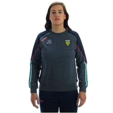O'Neills Kids Donegal GAA Dillon 98 Crew Top - Grey/Pink