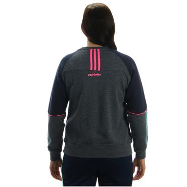 WOMENS DONEGAL DILLON 98 CREW TOP - GREY/PINK