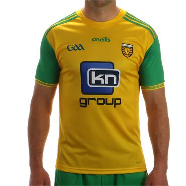 O'Neills Adults Donegal GAA Tight Fit Home Jersey 2018 - Yellow/Green