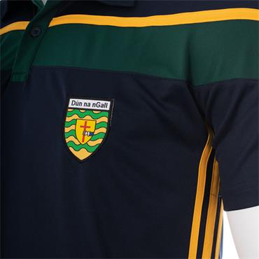 O'NEILLS ADUTS DONEGAL SLANEY 05 POLO - GREEN/AMBER