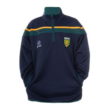 O'NEILLS KIDS DONEGAL SLANEY 30 HALF ZIP - GREEN/AMBER