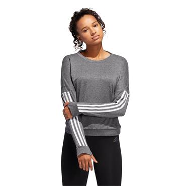 Adidas Response Long Sleeve Sweatshirt - Grey