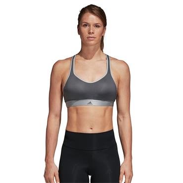 Adidas Womens Stronger For It Racer Sports Bra - Grey