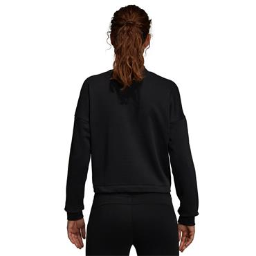ADIDAS WOMENS SPORTS ID SWEATSHIRT - BLACK/WHITE