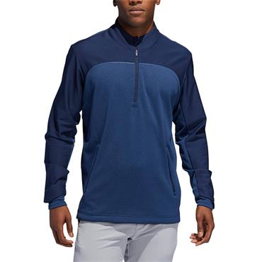 Adidas Mens Go To Golf Quarter Zip - Navy