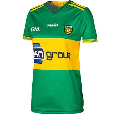 WOMENS FIT DONEGAL GAA AWAY JERSEY 2018 - GREEN/YELLOW