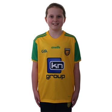 KIDS DONEGAL GAA HOME JERSEY 2018 - YELLOW/GREEN