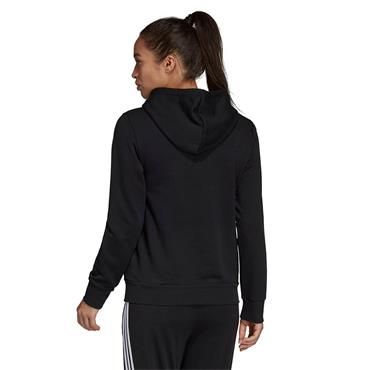 Adidas Womens Linear Overhead Hoodie - Black/White