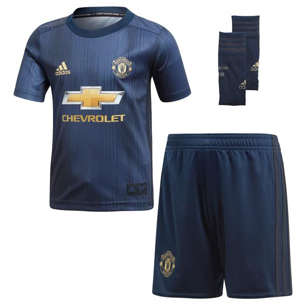 more photos 547d6 bb981 Adidas Kids Manchester United Third Kit 2018/19 - Navy