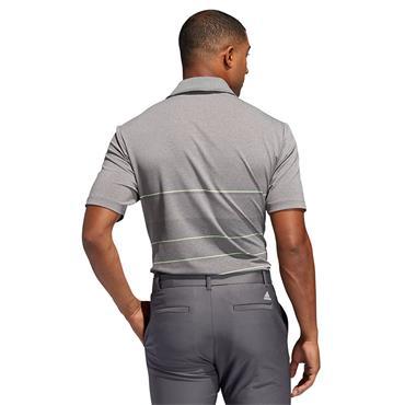 Adidas Mens Ultimate 365 Heathered Polo Shirt - Grey/Green