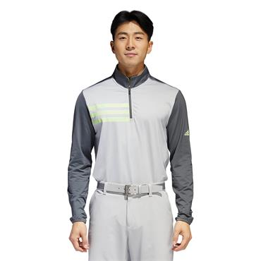 Adidas Mens 3 Stripe Competition Half Zip - Grey/Green