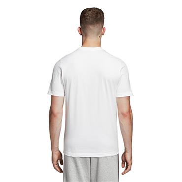 Adidas Essential Linear Brush T-Shirt - White